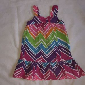 Healthtex multicolor dress.4T
